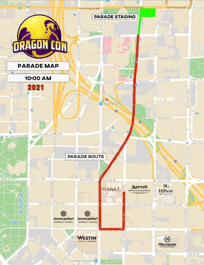 parade map 2021 - red stripe